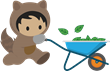 Astro with wheelbarrow