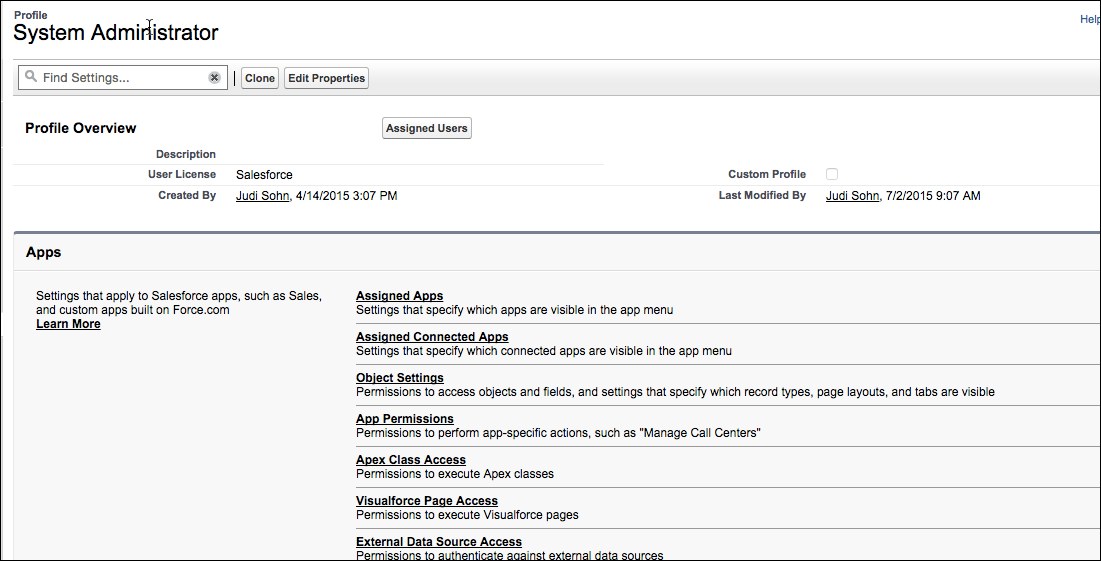 Enhanced Profile User Interface