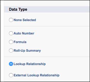 Lookup Relationship data type