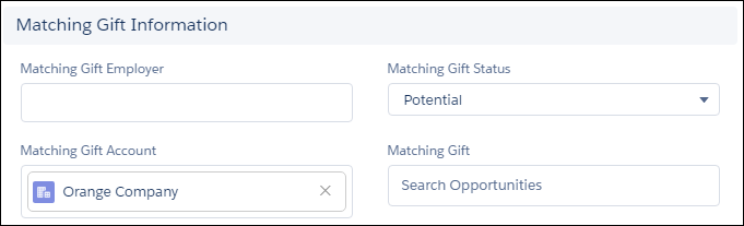 Identify a gift as matching eligible