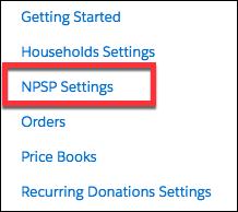 NPSP Settings in the App Launcher screen
