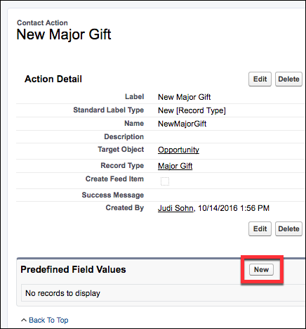 Add or Edit a New Opportunity Button on Contacts ~ Power of