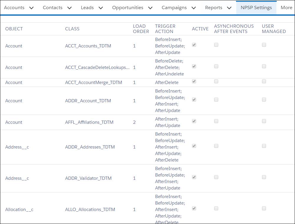 Deploy a Custom Apex Class in the TDTM Framework for NPSP
